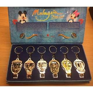 {特價 出清}迪士尼&馬來西亞 雙子星 多功能鑰匙圈 開瓶器 指甲剪 Disney Mickey Malaysia
