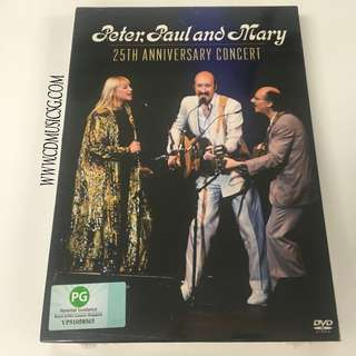 [DVD] Peter, Paul and Mary - 25th Anniversary Concert