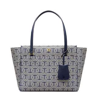 Authentic Tory Burch Parker Geo-T Small Tote Bag