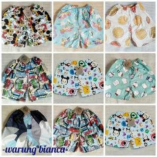 Celana rumahan / celana pendek / kolor anak laki 1-3 tahun