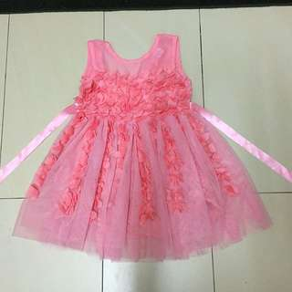 Petal peach kids dress size 6-7y