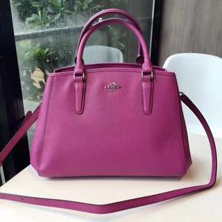 Coach Small Margot Carryall- purple