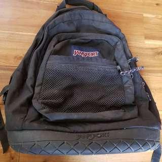 Authentic Jansport Hardwearing Rucksack Backpack w/Rubber Base