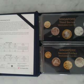 Singapore 2nd & 3rd series Uncirculated coin set