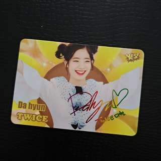 Twice Yes card 小卡 (簽)