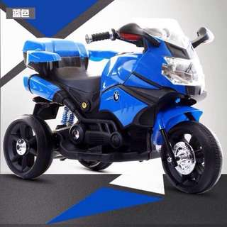 Blue BMW Big Bike Motorbike Rechargeable Toy Car