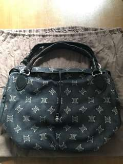 Celine logo canvas handbag