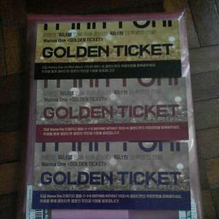 Wanna one golden ticket