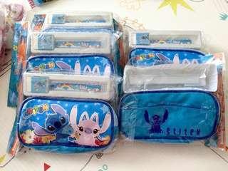 清貨 全新迪士尼卡通小魔怪卡通筆袋套裝 文具 平 抵 生日會 回禮 禮物