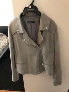 Suede grey jacket