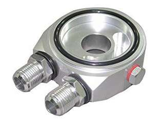 Universal Car Engine Oil Cooler Adapter Sandwich Plate Oil Gauge Filter Relocation Kit - intl