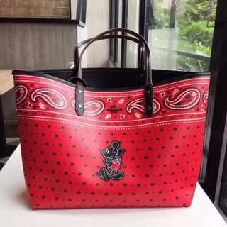 Coach Reversible Tote Disney collab