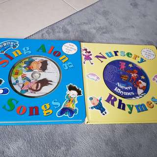 Sing along songs and nursery rhymes with sing along audio cd