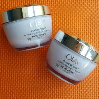 Reprice! 2 pcs Olay Revitalising Hydration Cream (Day and Night)