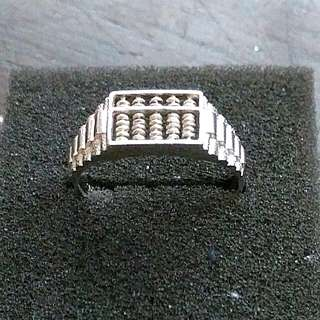 925 Silver Abacus Ring