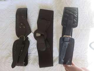 Forever 21 Highwaist Belts Take All