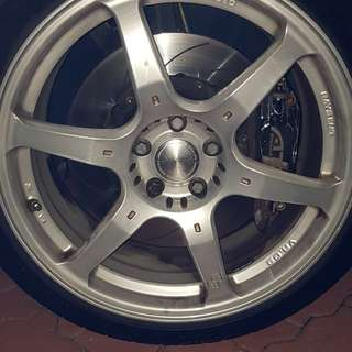 "VW Scirocco ATS 4 Pot Brake & VR 19"" Rims"