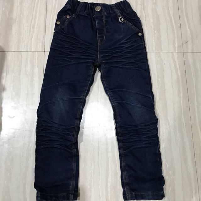 $100韓版男童牛仔長褲內刷毛