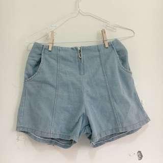🚚 *二手 拉鍊顯瘦單寧短褲