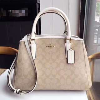 Coach Small Margot Carryall - monogram white