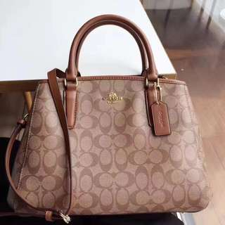 Coach Small Margot Carryall- monogram brown