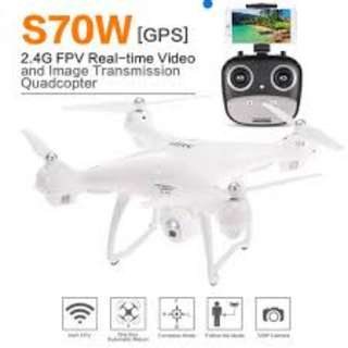 SJRC S70W Dual GPS 2.4G WIFI FPV Drone with 720P HD Camera Follow Me Mode RC Quadcopter RTF - White