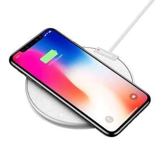 Basues無線充電盤 銀白款 / IPhone x / Iphone8