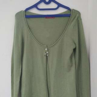 Cardigan outer knit green