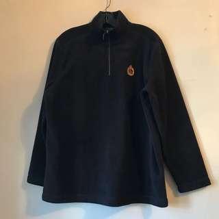 Lauren Ralph Lauren Fleece Navy Quarter Zip Sweatshirt