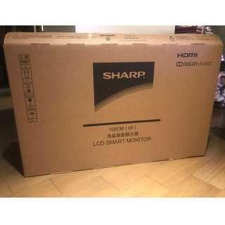 全新【夏普SHARP】夏普40吋 FHD智慧連網顯示器+視訊盒 LC-40SF466T(超值國民機)
