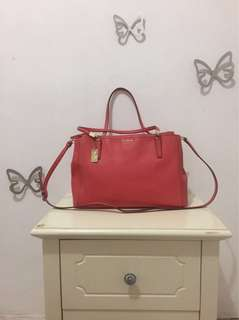 Pre-Own Authentic Coach Shoulder Bag Sakura Pink
