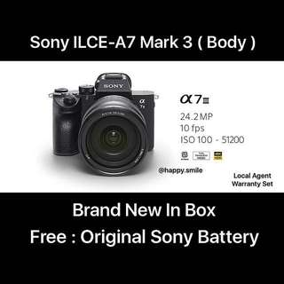 ( Pre-order ) Sony a7 mark 3 ( Body )