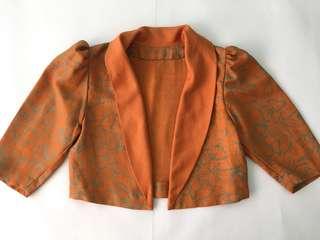 Orange Floral Blazer
