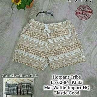 uy hotpant tribe 1 set gil (mix isi 4) 150.000 Bahan waffle motif asli LP 62 Max 84 PJ 35 fit to L besar, KHUSUS SERI MIN 4
