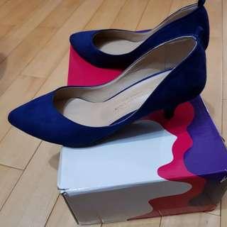 正韓 寶藍色 高跟鞋