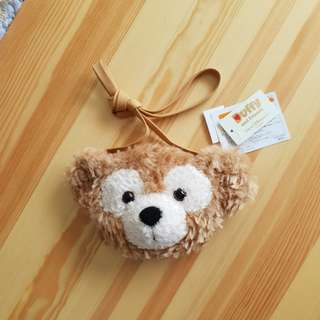 Japan DisneySea Duffy Bear Head sling bag