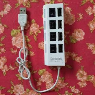 🚚 USB四孔 HUB快速集線器