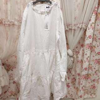 Pazzo 荷葉小高領傘擺洋裝(裙身有內裏)