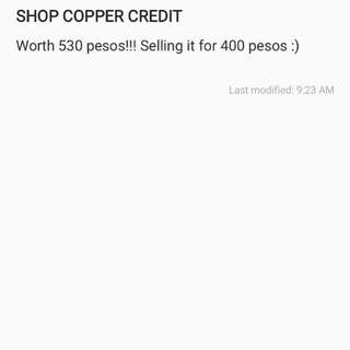 ShopCopper store credit