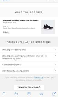 WTT Adidas human race holi black