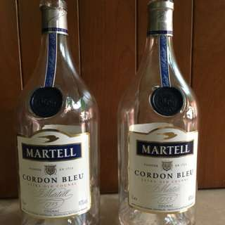 EMPTY Martell Cordon Bleu bottle