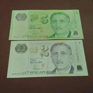 $2 & $5 Singapore Polymer