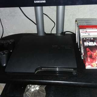 PS3 W/ 8 pcs CD GAMES for Free