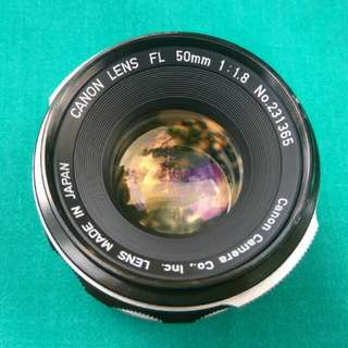 【Excellent】 Pre-Owned Canon FL 50mm F/1.8  MF Camera Lens .