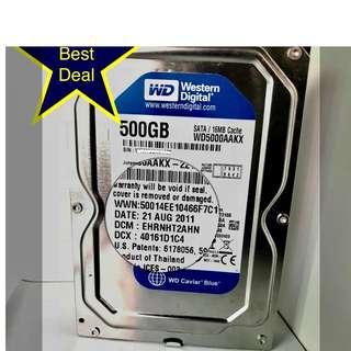 Western Digital 500GB SATA hard disk