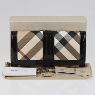 Burberry Supernova Check Coated Canvas Penrose Continental Wallet