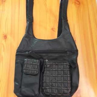 Leather backpack authentic bag