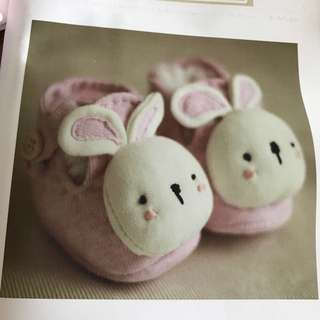 DIY Baby Booties - Bunny in Pink
