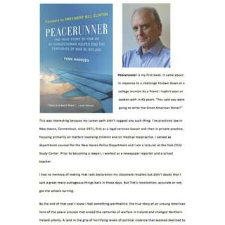 Peacerunner: The True Story of How an Ex-Congressman Helped End the Centuries of War in Ireland by Penn Rhodeen
