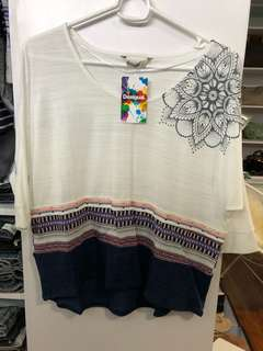 Desigual 3/4 Sleeves Shirt - BN with Tags